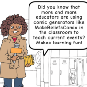 The New York Times Learning Network has cited MakeBeliefsComix as a fun classroom resource